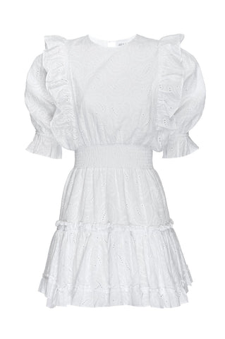 VIDR7672 Doutzen cotton eyelet dress