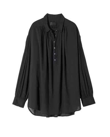 00476F096 Miles oversized pullover button down blouse