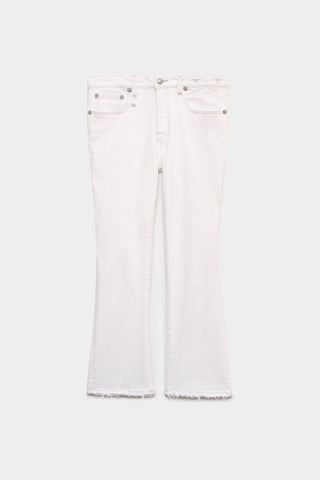 R13W0009895A Kick fit jean with slight hem distressing