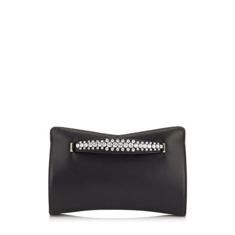 Venus napa clutch with shoulder strap