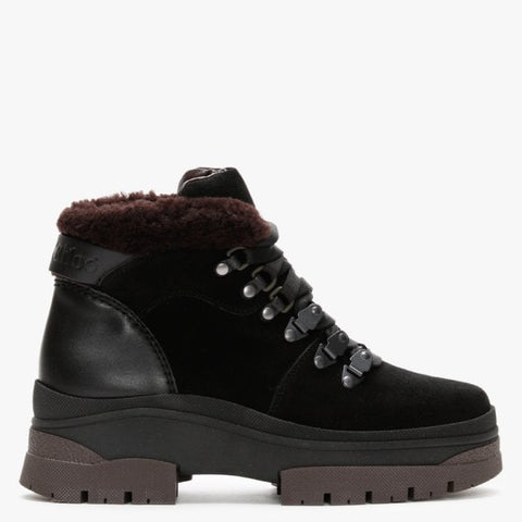 SB35132B12022  Aure contrast suede / shearling boot