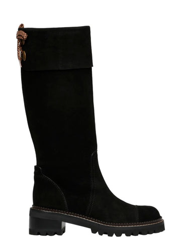 SB35062A12120 Knee-high suede boot