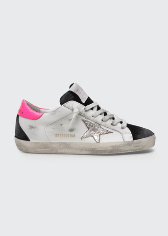GWF00102F00024480253 Super star mixed leather low top sneaker