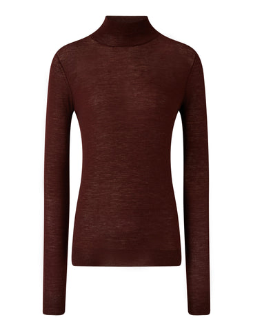 JF004815 High neck cashmere long sleeve sweater