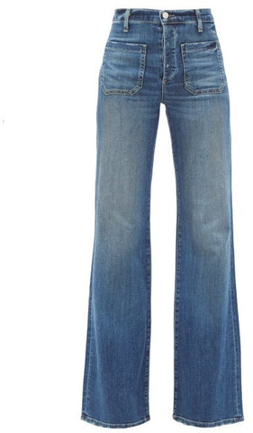 10196W45  Florence wide leg 4 pocket jean