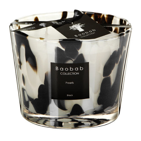 MAX10PB Black pearls candle
