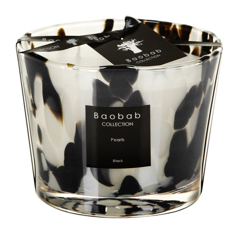 MAX10PB Max 10 black pearls candle
