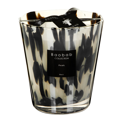MAX16PB  Max 16 black pearls candle