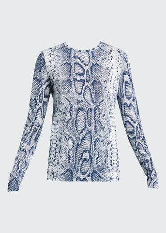 R2134021 Snake-print long sleeve T-shirt