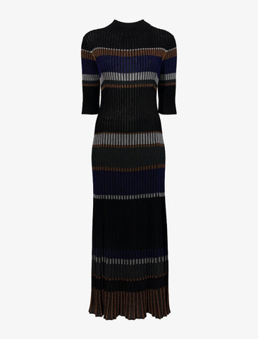R2137672 Zig zag stripe knit dress