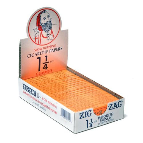Zig Zag Rolling Papers - 1-1/4 Size Slow Burning 50/pack