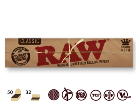 RAW Classic King Size Slim 32/pack