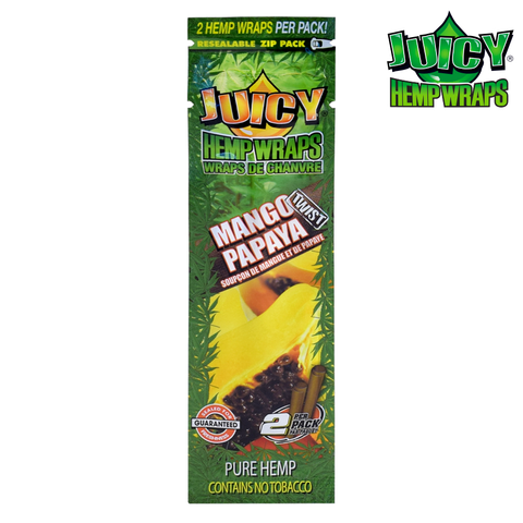 Juicy (Juicy Jays) Hemp Wraps - Mango Papaya 2/pack