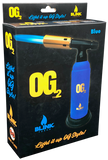 BLINK OG-2 DUAL FLAME ADJUSTABLE BUTANE TORCH (BLUE)