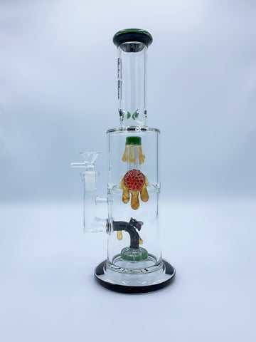 "12"" Inch Double Perc Beehive Bong"