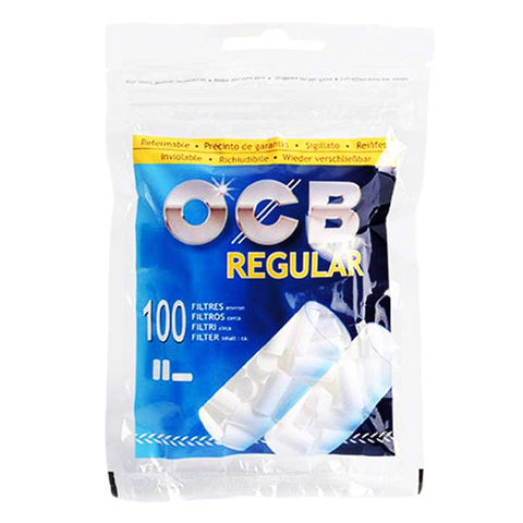 OCB Cotton Filter Tips - Regular Blue 100/pack