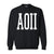 Basics Collection - Black Crew - Alpha Omicron Pi