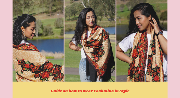 How to wear a Pashmina Shawl in style?