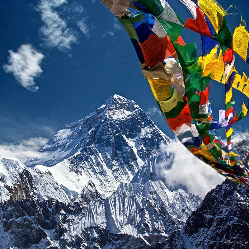 Prayer Flags used in Himalaya for Good Luck