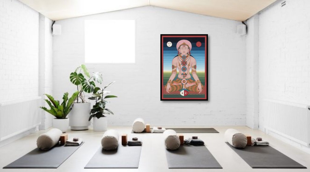 Thangka for yoga and meditation and decoration room