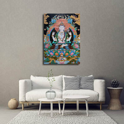 Thangka decoration in room