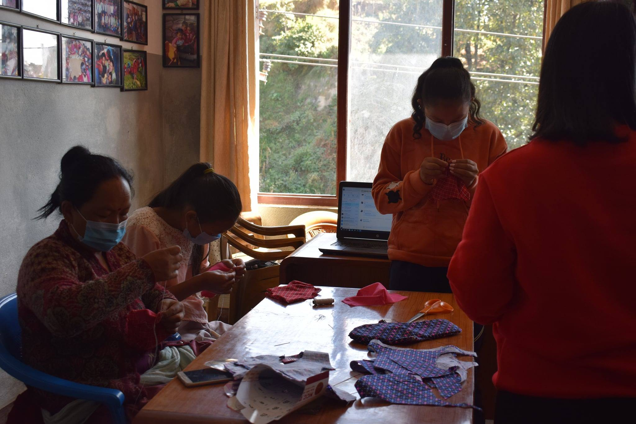 Face mask production in Nepal