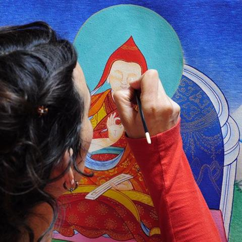 Thangka Painting by artist from Himalayas Region