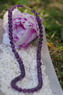 shop online Amethyst beaded necklace handmade from Nepal