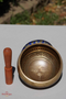 Singing bowl with Buddha Eye for sound healing and meditation