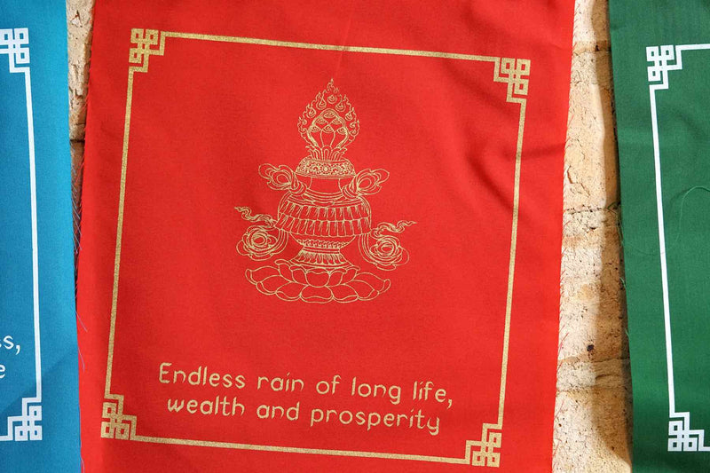 8 Auspicious Symbol Prayer Flag