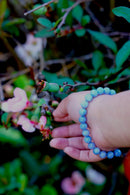 Blue Agate Stretchable Wrist Bracelet