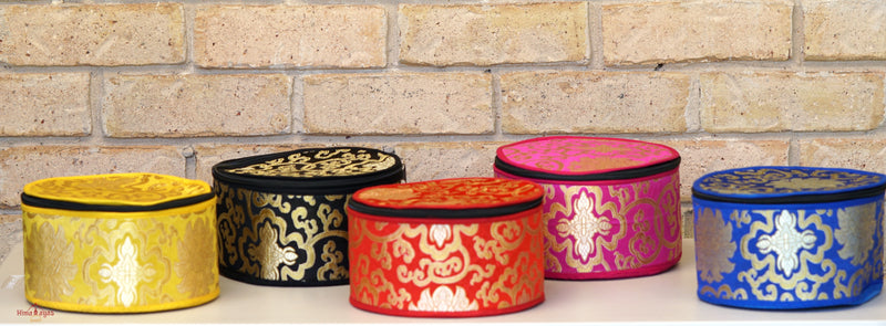 Silk Bag for singing bowl hand crafted from Nepal. Essential Singing bowl Accessory to keep your singing bowl safe.