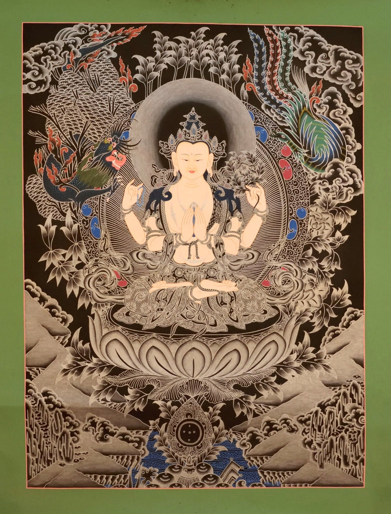 Chenrezig Thangka painting