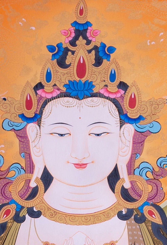 Chenrezig Thangka painting from Nepal on online at best price.
