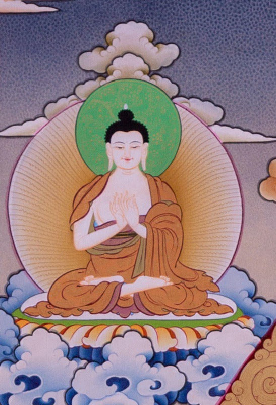 Chenrezig is known under many different names: Avalokiteshvara in sanskrit, Kuan Yin in Chinese and Kannon in Japanese.