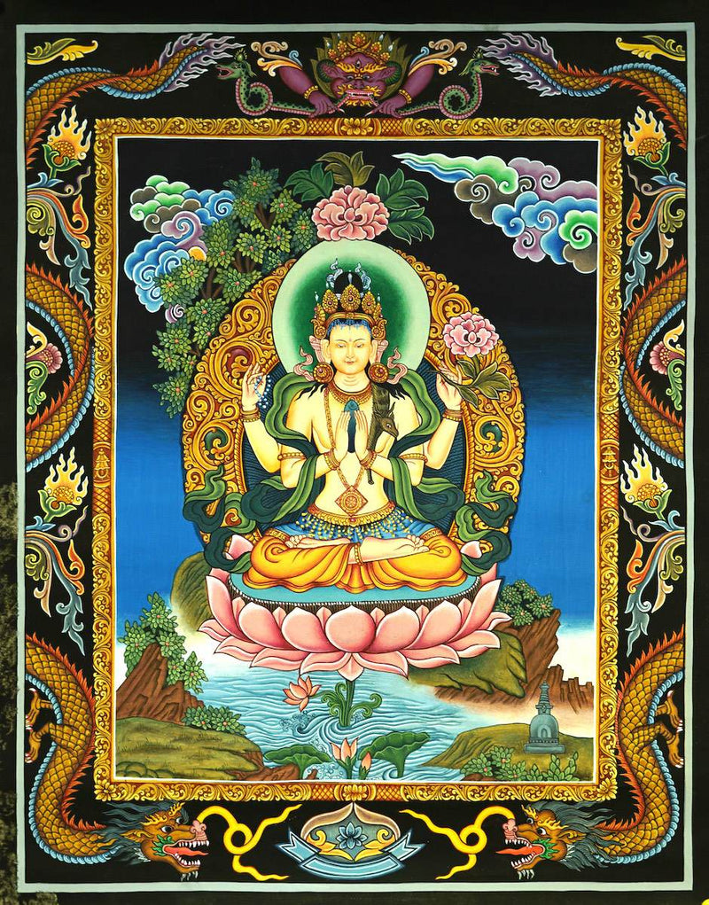 Newari Chenrezig Thangka
