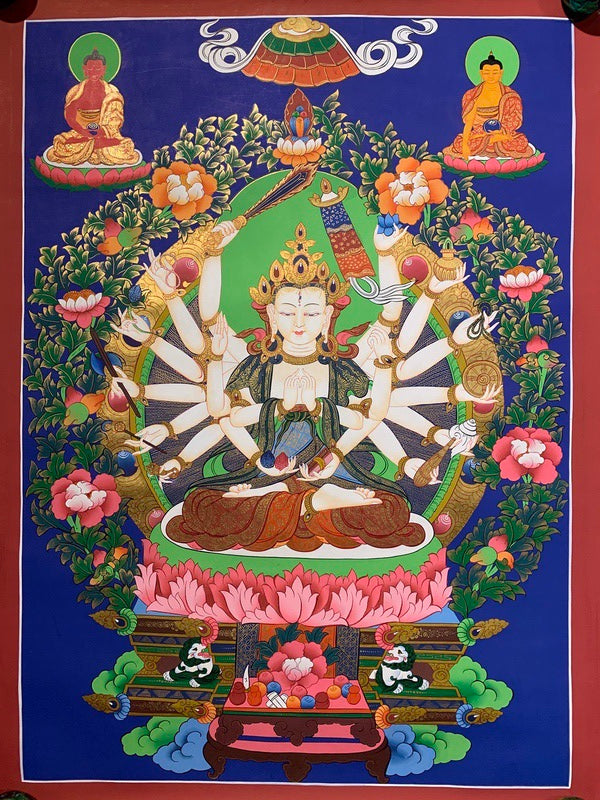 Beautiful Cundi thangka painting