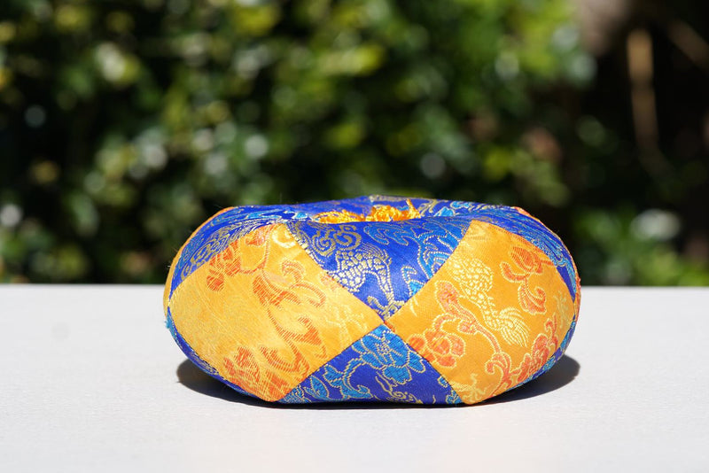 Best Singing bowl cushion hand embroidery in silk from Nepal