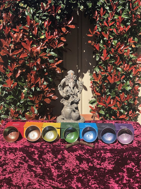 7 chakra singing bowl set for chakra balance and reiki