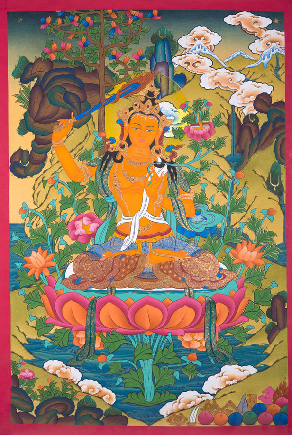 Manjushri Thangka Painting for Sale