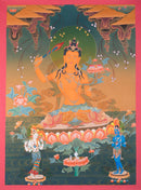 Manjushree is an ancient Buddha who vowed to emanate throughout the universe as the always youthful,princely Bodhisattwa of Transcendent Wisdom.