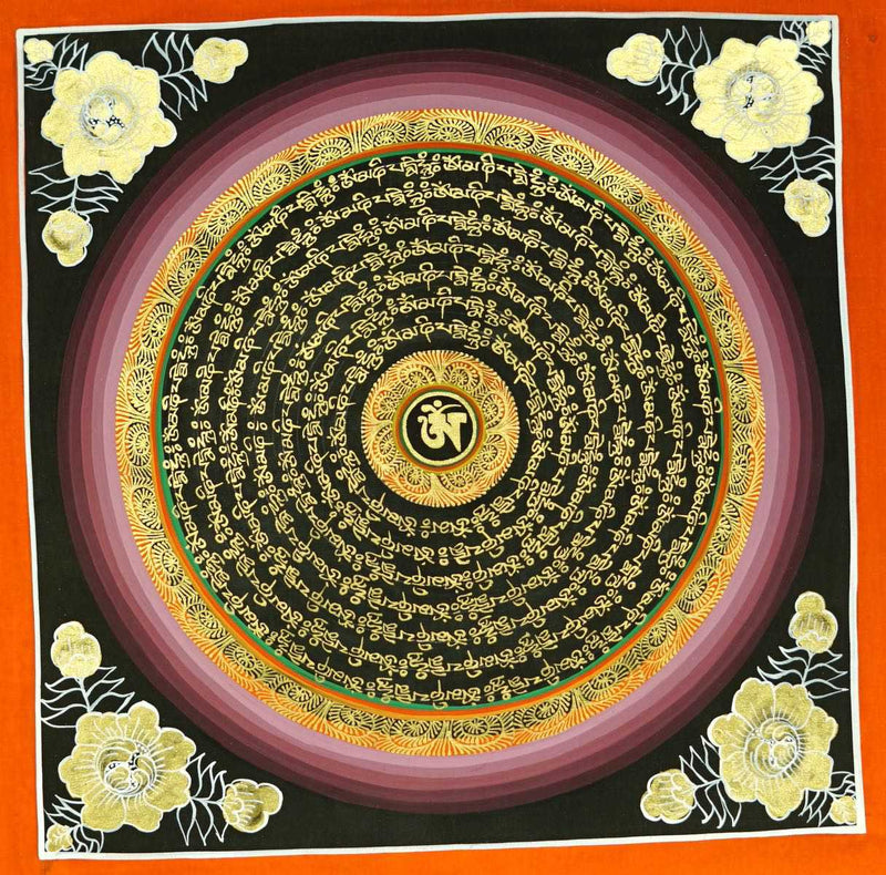 OM mandala thangka painting