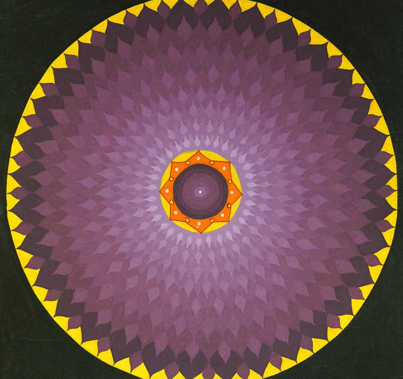 Purple lotus mandala thangka