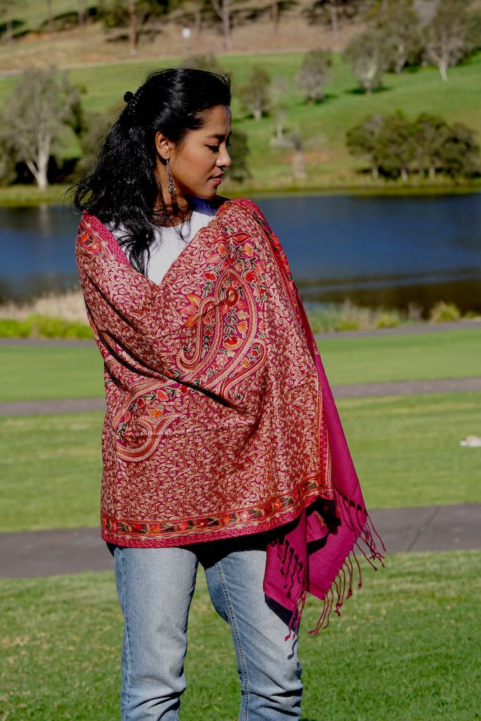 Find the best range of Pashmina Shawl at Himalayas Shop. Beautiful genuine Nepalese cashmere pashminas, that are so warm, yet light, and utterly luxurious to wear.