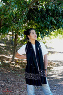 Popular black pashmina shawl for women to wear on any occasion .