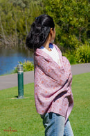 Lavender color pure pashmina shawl , ethically sourced and biodegradable.