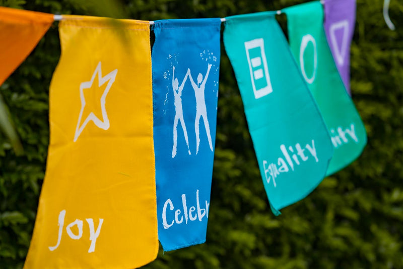 positivity wall hanging flag