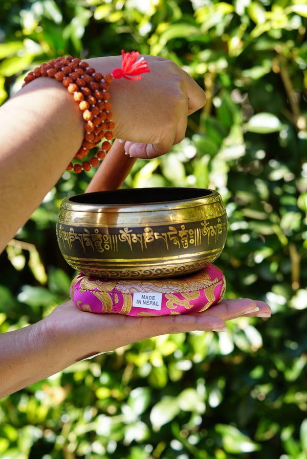 singing bowl for chakra healing and meditation