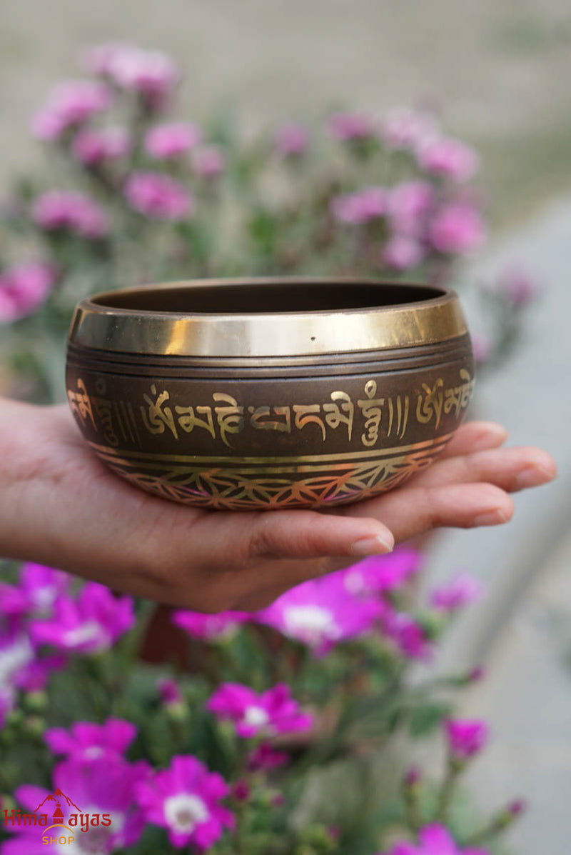 OM mani padme hum tibetan singing bowl at lowest price