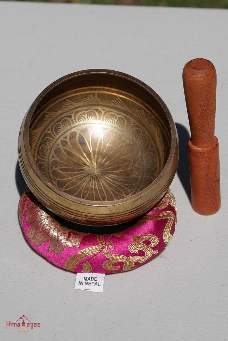 Mini Singing bowl painted 1000 petal chakra - crown chakra singing bowl